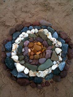 natural material Mandala...pretty.