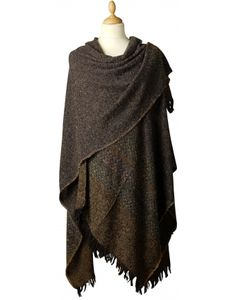 Knitted Ponchos, Wool Capes & Wool Shawls for Women
