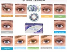 Gorgeous BRAND NEW in box contact lenses to accent or accentuate your natural eye color.Best fitting non prescription contacts on the market. FREE case with each order. freshlook Other Fresh Look Contact Lenses, Contact Lenses For Brown Eyes, Natural Contact Lenses, Prescription Colored Contacts, Eye Prescription, Freshlook Contacts, Halloween Contacts, Halloween Makeup, Scary Halloween