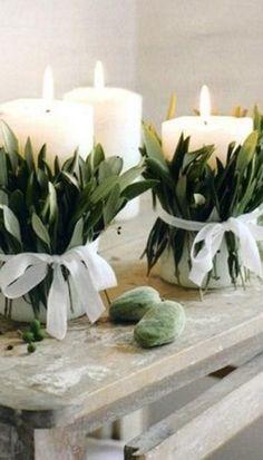 DIY: decoração de mesa para festas   Velas