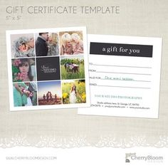 free gift certificate template come snag it wwwcherrybloomdesigncom - Free Printable Photography Gift Certificate Template