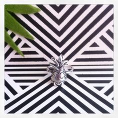 Tropical summer and Pineapple Ring #sterlingsilver   MiNinaNanas on Etsy : www.etsy.com/shop/MiNinaNanas