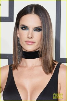 Alessandra Ambrosio is a 'Rock Chick' at the Grammys 2016: Photo #3579720. Alessandra Ambrosio looks stunning in a plunging neckline while on the red carpet during the 2016 Grammy Awards held at the Staples Center on Monday (February 15)…