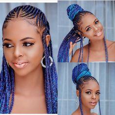 Latest African Braided Hairstyles For Black Women – Fashion Ruk – Beauty ideas Box Braids Hairstyles, Braided Hairstyles For Black Women Cornrows, Black Women Hairstyles, Girl Hairstyles, Fashion Hairstyles, School Hairstyles, Everyday Hairstyles, Formal Hairstyles, Wedding Hairstyles