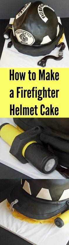 How to Make a Firefighter Helmet Cake