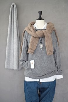 Cashmere Sweater, GREY