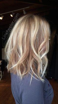 Blonde long bob Balayage ombré colormelt by Lo Wheeler. Instagram @lowheeler_ha...