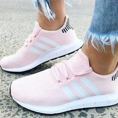 The adidas Swift Run shoes are the go-to sneaker for us all. Combining maximum comfort with a stunning icey pink styled look.Die adidas Swift Run-Schuhe sind der erste Wahl für uns alle ….pink adidas sneakers CAN FIND AT NORDSTROM. Moda Sneakers, Sneakers Adidas, Shoes Sneakers, Converse Shoes, Shoes Sandals, Tennis Shoes Outfit, Adidas Shoes Women, Yeezy Shoes, Best Adidas Shoes
