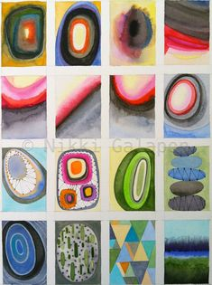 Four by Four GICLEE PRINT of original abstract by NikkiGalapon, $7.00