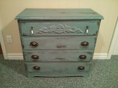 Divinely Gifted - Milk Paint Dresser with added moulding for interest.