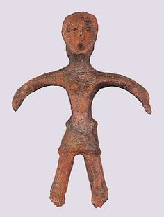 "Japanese ceramic figurine ""DOGU"".   BC.2,500 - BC.1,200.  This figurine was unearthed on Yato Tokyo Japan. 東京都東やと遺跡"
