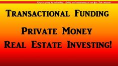 private money for real estate investing