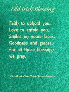 Old Irish Blessing ...