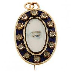 Lover's Eye 19th century pendant brooch : Lot 25