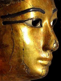 Mummy shaped coffin of Kha ~ (detail.) Egyptian Museum ~ Turin