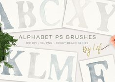 Photoshop Alphabet Brushes by By@Graphicsauthor