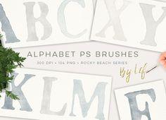 Photoshop Alphabet Brushes by By Lef on @creativework247