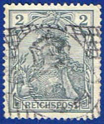 Germany 52 Stamp - Germania Stamp - EU GER 52-1 USED