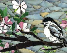 Items similar to Peony Art Stained Glass Mosaic Set mosaics Original Mosaic Tile Art kitchen mosaic art flower art kitchen art mosaic home decor tile art on Etsy Mosaic Tile Designs, Mosaic Tile Art, Mosaic Birds, Mosaic Flowers, Mosaic Crafts, Mosaic Glass, Mosaic Projects, Custom Stained Glass, Stained Glass Birds