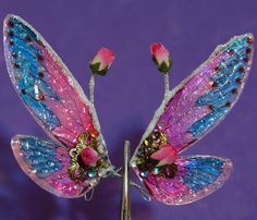Doll Tears OOAK Dolls: How to make Fairy wings Tutorial How To Make Wings, Nylon Flowers, Fairy Garden Furniture, Fairy Crafts, Fairy Wings, Angel Wings, Fairy Dolls, Butterfly Wings, Ooak Dolls