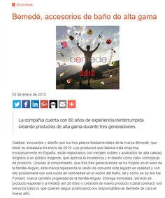 Revista IMCB 02-Enero-2012 BEMEDE, accesorios de baño de alta gama