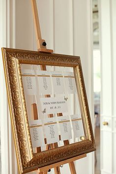 love this seating chart display and easel