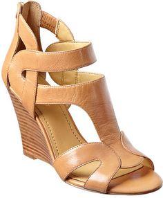 #NineWest                 #Women #Shoes             #sandal #merle #sole #wedge #closure #zipper #upper #single #leather          MERLE                     Single sole stacked 3 3/4 wedge sandal with back zipper closure. Leather upper.                         http://pin.seapai.com/NineWest/Women/Shoes/1241/buy