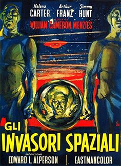 'Invaders From Mars, 1953' (Italian) Fantastic A4 Glossy…