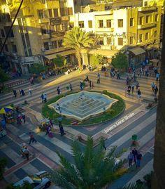ساحة الحريقة -دمشق Syria. Harika square. At 13 years old I shopped for fabric to sew flared leg pants in all colors.