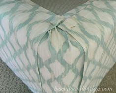 diy bedskirt is super simple cheap adjusts to bed height, bedroom ideas, crafts, how to, Corners look like this