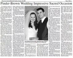 The 51 Best Wedding Newspapers Images On Pinterest
