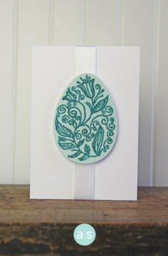 eggs stamp set + matching die +mermaid glitter - #amusestudio