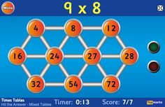 Hit the Button - Quick fire maths practice for 5-11 year olds