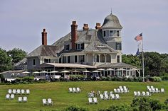 Castle Hill Inn in Newport, RI. I love this place to sit on chairs overlooking ocean and sipping glass of wine!!
