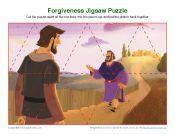 Children's Bible Jigsaw Puzzle Activity - Forgiveness
