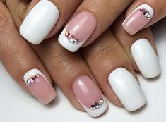 Discover a lot of photos about French manicure, a service that helps you discover and save photos of the best ideas Great Nails, Love Nails, Gel Nail Art, Nail Manicure, Nail Atelier, Elegant Nails, White Nails, Halloween Nails, Wedding Nails
