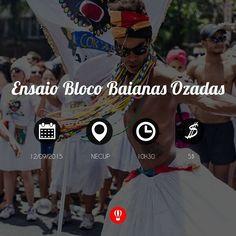 Daqui a pouco começa o Ensaio do Bloco Baianas Ozadas no Necup na Av. Nossa Senhora de Fátima 3312 no Prado! #PulaBH by pulabh