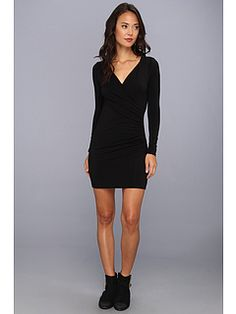 Michael Stars Long-Sleeve Surplice Dress