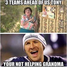 3 teams ahead of us Tony! Lol