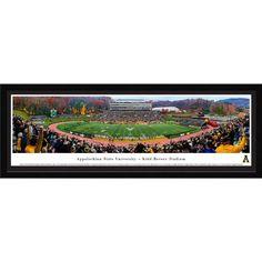 Appalachian State Mountaineer Fall Football - 50 Yard Line - Blakeway Panoramas Print with Select Frame and Single Mat
