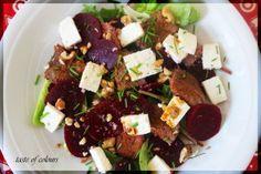 Beetroot beef and feta salad