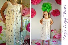 Love these little nightgowns made quickly from pillowcase and a little stretch lace!