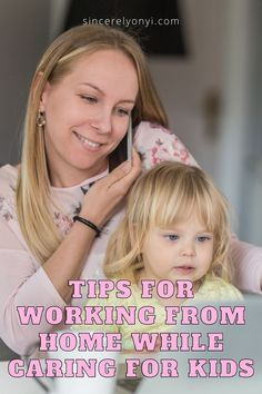 Are you working from home and also looking after your kids? Check out my top tips on how I manage to get things done and homeschool my kids. Everything you need to know about balancing your work life and motherhood while working from home in this blog post #workfromhome #motherhood #kids #sincerelyonyi Working Mom Tips, Work From Home Tips, Mom Advice, Career Advice, Good Parenting, Parenting Hacks, Protein Snacks For Kids, Work Family, Quotes About Motherhood