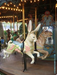 Bryant Park Carousel, NYC, has charming French Cabaret Music Park In New York, Bryant Park, Merry Go Round, Happy Together, Carousel Horses, Vintage Easter, Stork, Light In The Dark, Sculpture Art