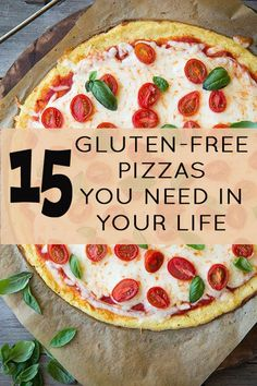 15 Gluten-Free Pizzas You Need In Your Life - These are gluten free, not necessarily fodmap free. Looks good though. #glutenfree #recipes #gluten #gluten-free #recipe
