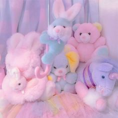 69 best plushies images in 2019 adorable animals, adorable p Rainbow Aesthetic, Aesthetic Themes, Pink Aesthetic, Aesthetic Pictures, Softies, Plushies, Outfits Kawaii, Imagenes Color Pastel, Kawaii Room