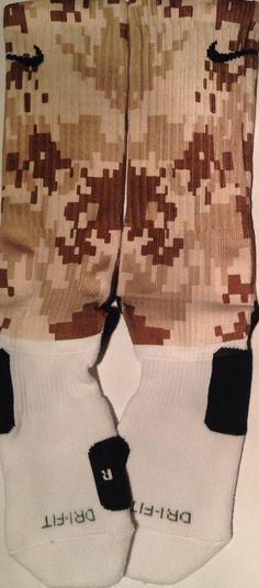 Digital Camo Desert Sand Brown Custom Nike by DopeSocksAndStuff, $22.99