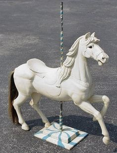 Carousel Horse Trotter with Horsehair Tail