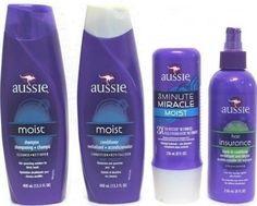 Kit Completo Aussie Shampoo Condicionador Máscara Leave-In 4 produtos