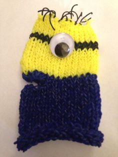 Rainbow loom minion glove.
